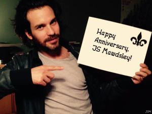 Not what Santiago Cabrera's sign actually said, but I'm sure he agrees with the sentiment.
