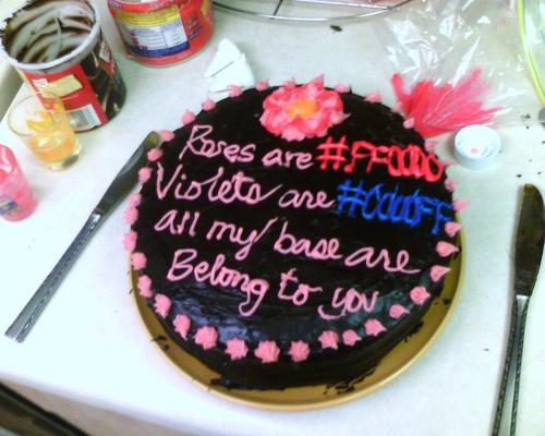 geek bday cake